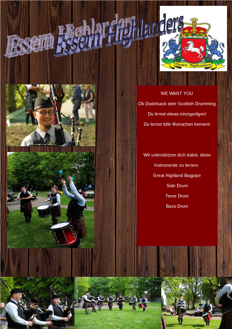 Flyer Pipe Band